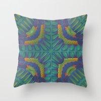 rio Throw Pillows featuring Rio by Lyle Hatch
