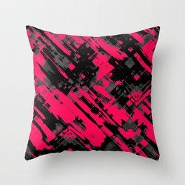 Hot pink and black digital art G75 Throw Pillow