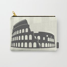 illustration of Roman Colosseum isolated on white background Carry-All Pouch