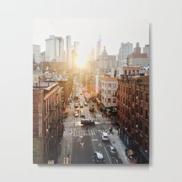 A New York Sunset Metal Print