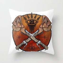 Borderlands Psycho Buzz Axe Throw Pillow