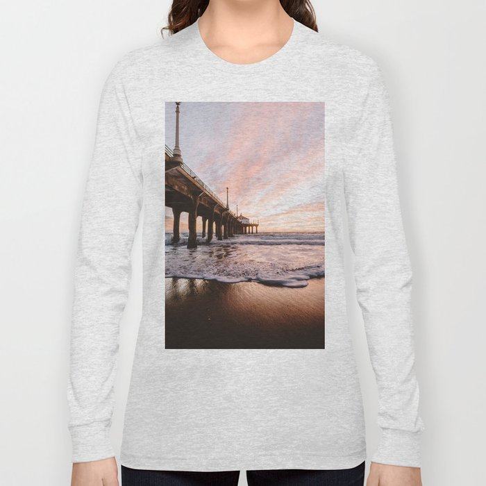 MANHATTAN BEACH PIER Long Sleeve T-shirt
