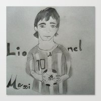 messi Canvas Prints featuring Messi by Amatullah Zakir