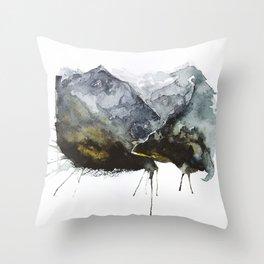 A splash of nature Throw Pillow