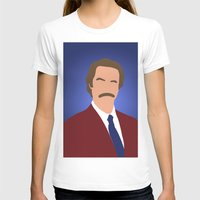 anchorman T-shirts featuring Ron Burgundy - Anchorman by Tom Storrer