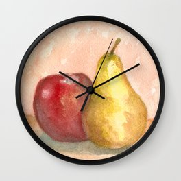 A Fruity Pair Wall Clock