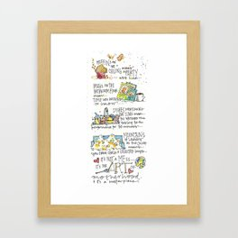 Mom's and Muffins Framed Art Print