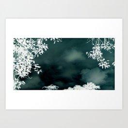 Stormy Silouhette Art Print