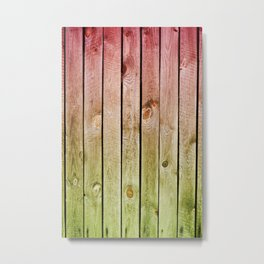 Red green toned boards texture Metal Print