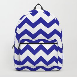 Chevron (Navy & White Pattern) Backpack