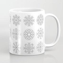 minimalist snow flakes Coffee Mug