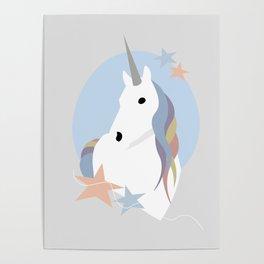 Unicorn portrait Poster