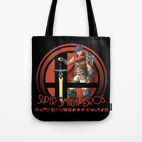 super smash bros Tote Bags featuring Ike - Super Smash Bros. by Donkey Inferno