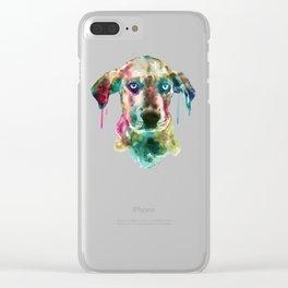 Cute Doggy Clear iPhone Case