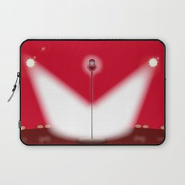 Open Mic Night Red Background Laptop Sleeve