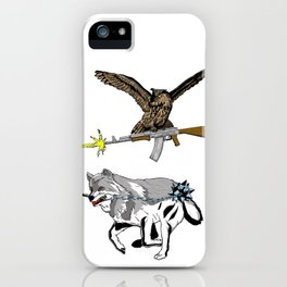 OWL WOLF ALLIANCE 3 iPhone Case