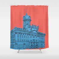 jennifer lawrence Shower Curtains featuring St. Lawrence Hall by Beacon Design
