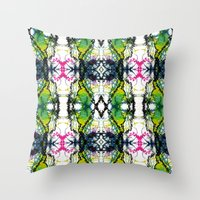 writing Throw Pillows featuring Secret Writing by Martha Calderon