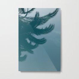 palms in the POOL Metal Print