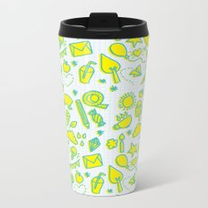 doodle brightness Metal Travel Mug