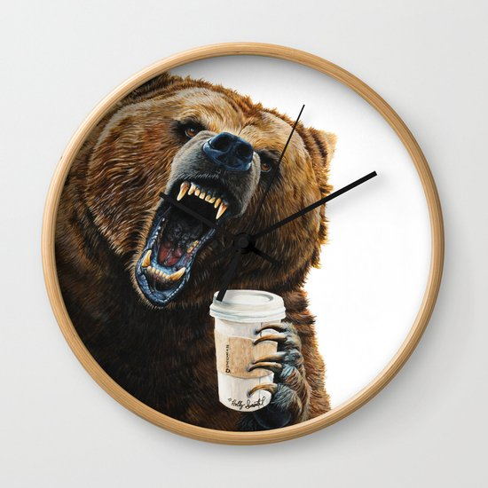 """"""" Grizzly Mornings """" give that bear some coffee by hollysimental"""