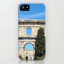 pula croatia ancient arena amphitheatre iPhone Case