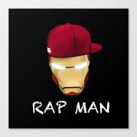 rap Canvas Prints featuring Rap man by Tony Vazquez