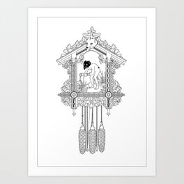 "Cuckoo clock, ""I have gone cuckoo."" Art Print"
