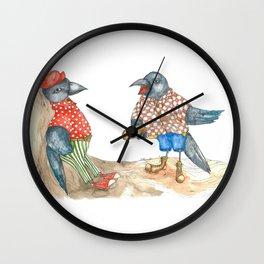 Jackdaws Wall Clock