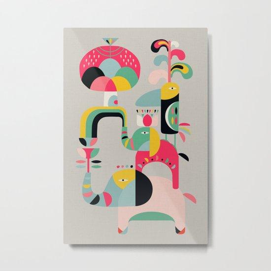 Jungle of elephants Metal Print