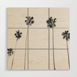 Black & White Palms Wood Wall Art