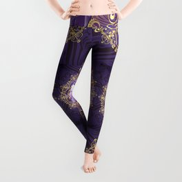 Decorative Background with Round Amethyst Leggings