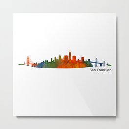 San Francisco City Skyline Hq v1 Metal Print