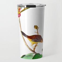 Bachman's Finch James Audubon Vintage Scientific Illustration American Birds Travel Mug