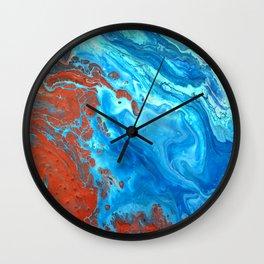 Earth Shifting Wall Clock