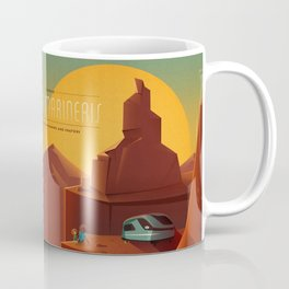 DISCOVER MARS - Valles Marineris   Space   X   Canyon   Retro   Vintage   Futurism   Sci-Fi Coffee Mug