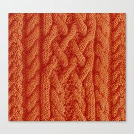 Irish sweater (orange) Canvas Print