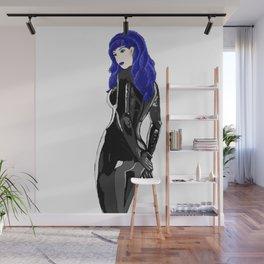 Miss Blue Wall Mural