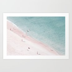 beach family love Art Print