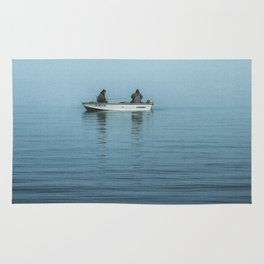 Fishing In The Fog Rug