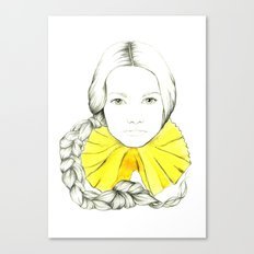 Frill Neck Lady Canvas Print
