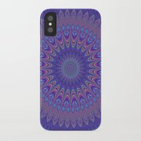 mandala iPhone & iPod Cases featuring Purple mandala by David Zydd