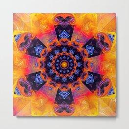 Windmill Mandala Metal Print