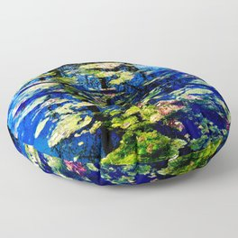 Water is the Color of Life Floor Pillow