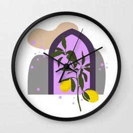 THE LEMON TREE, Botanical Wall Art Set, Abstract Print, Boho Print, Botanical Print, Tree Prints Wall Clock