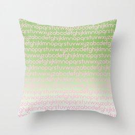 ABC 03 Throw Pillow