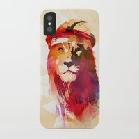 lion iPhone & iPod Cases featuring Gym Lion by Robert Farkas