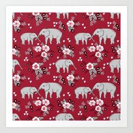 Alabama university crimson tide elephant pattern college sports alumni gifts Art Print