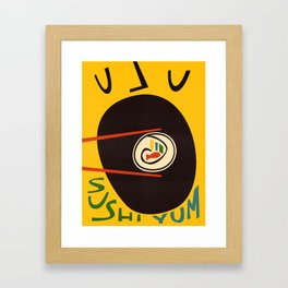 Yum Sushi Framed Art Print