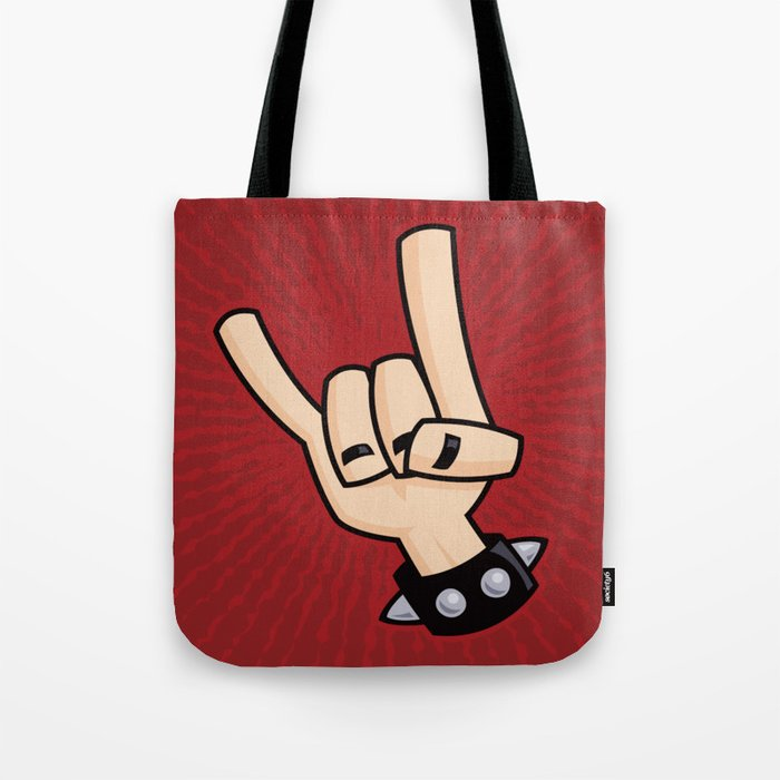Heavy Metal Devil Horns Hand Sign Tote Bag By Fizzgig Society6